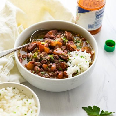 Easy Louisiana Cajun Red Beans Rice and Sausage