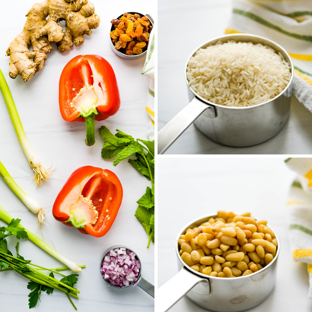 a collage of the ingredients for this recipe.