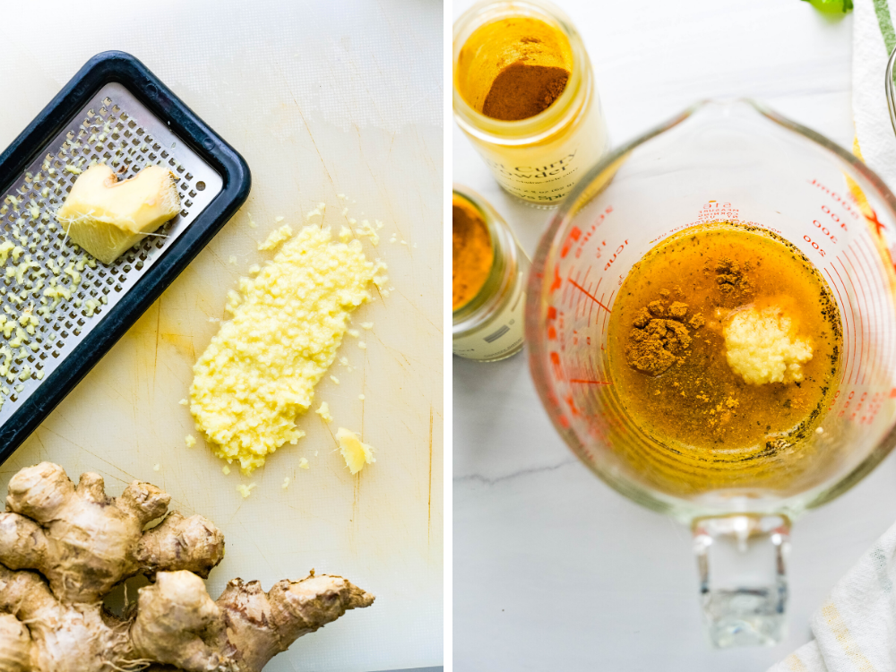 photo of Making ginger curry dressing for rice salads for summer.