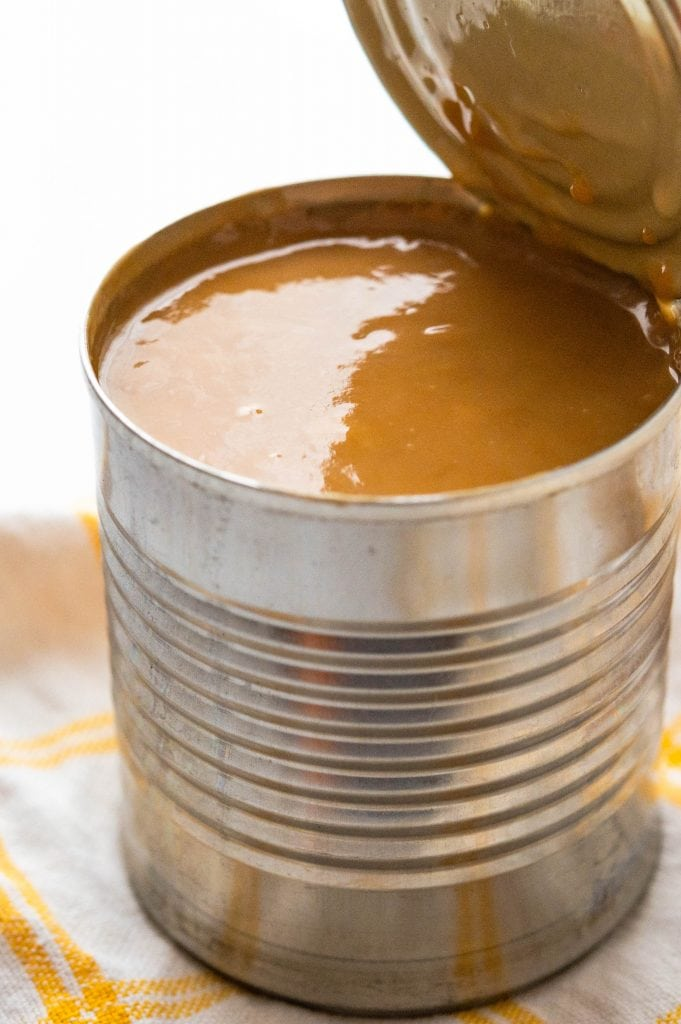 homemade dulce de leche made on the stovetop.