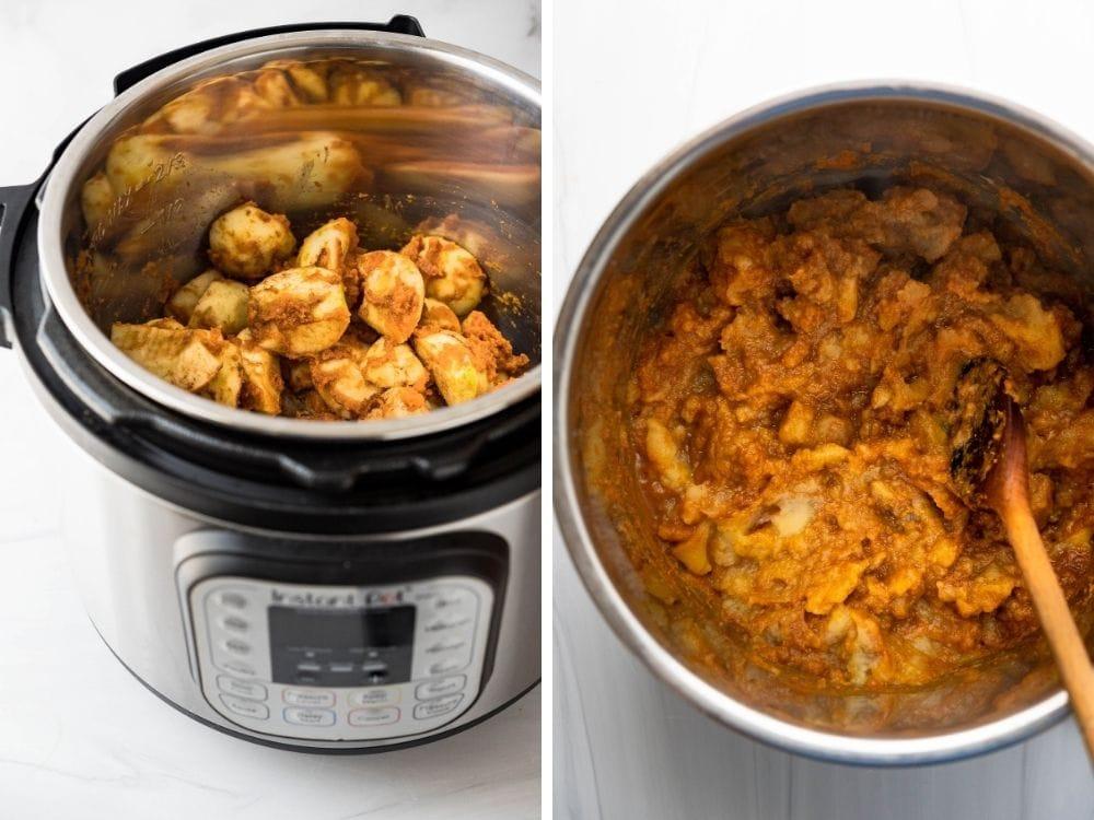 the Instant Pot method of cooking apple pumpkin butter.