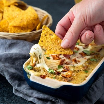 Easy Baked Bacon Cheese Chile Dip
