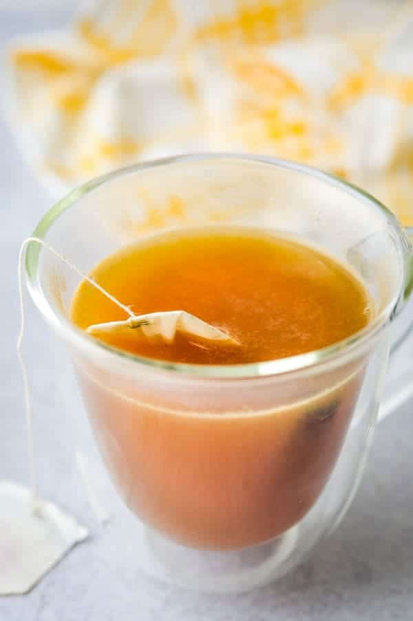making flavored green tea.