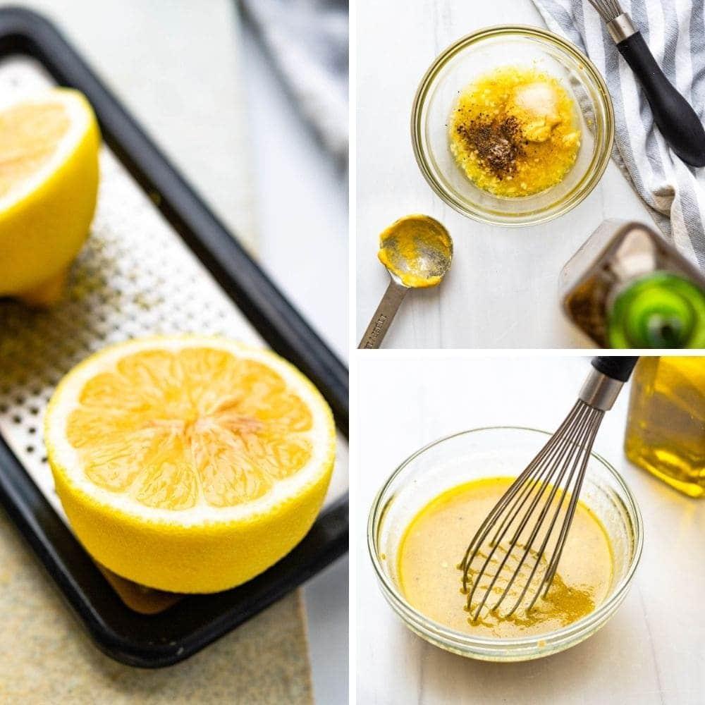 How to make lemon dijon vinaigrette.