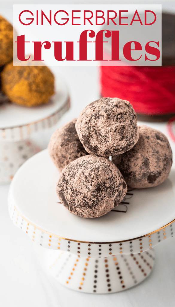 a pin of the gingerbread truffles.