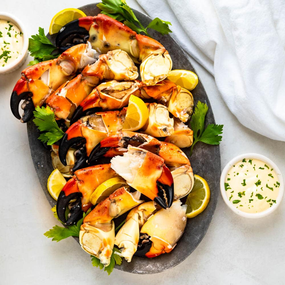 Florida Stone Crab Claws With Mustard Sauce A Florida Tradition Garlic Zest