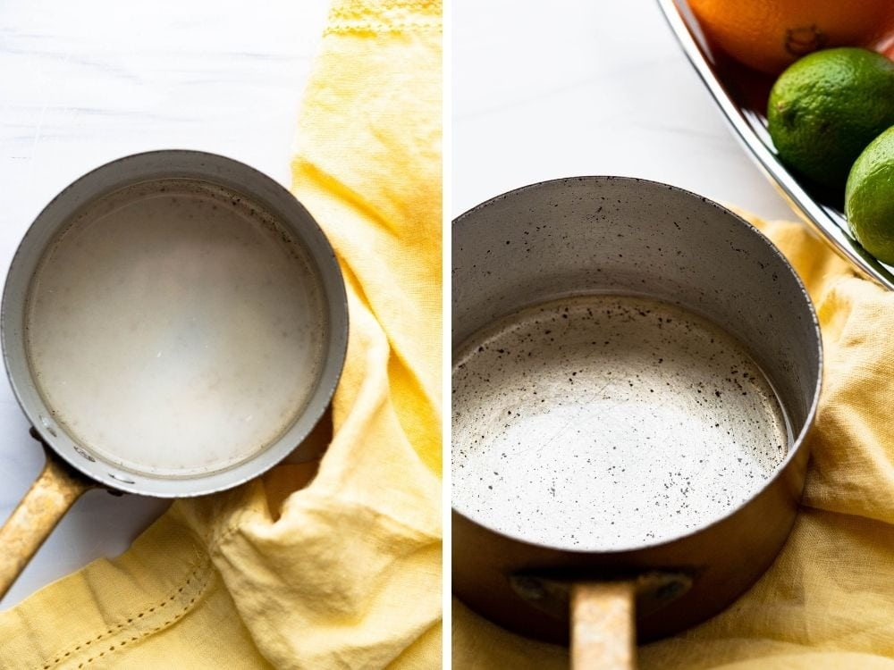 how to make homemade simple syrup for a virgin drink.