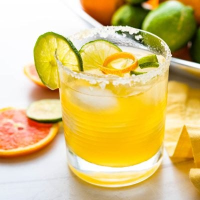 Light and Bubbly Cara Cara Margarita Mocktail