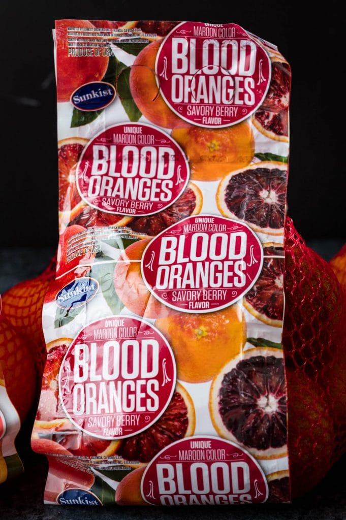 a bag of blood oranges.