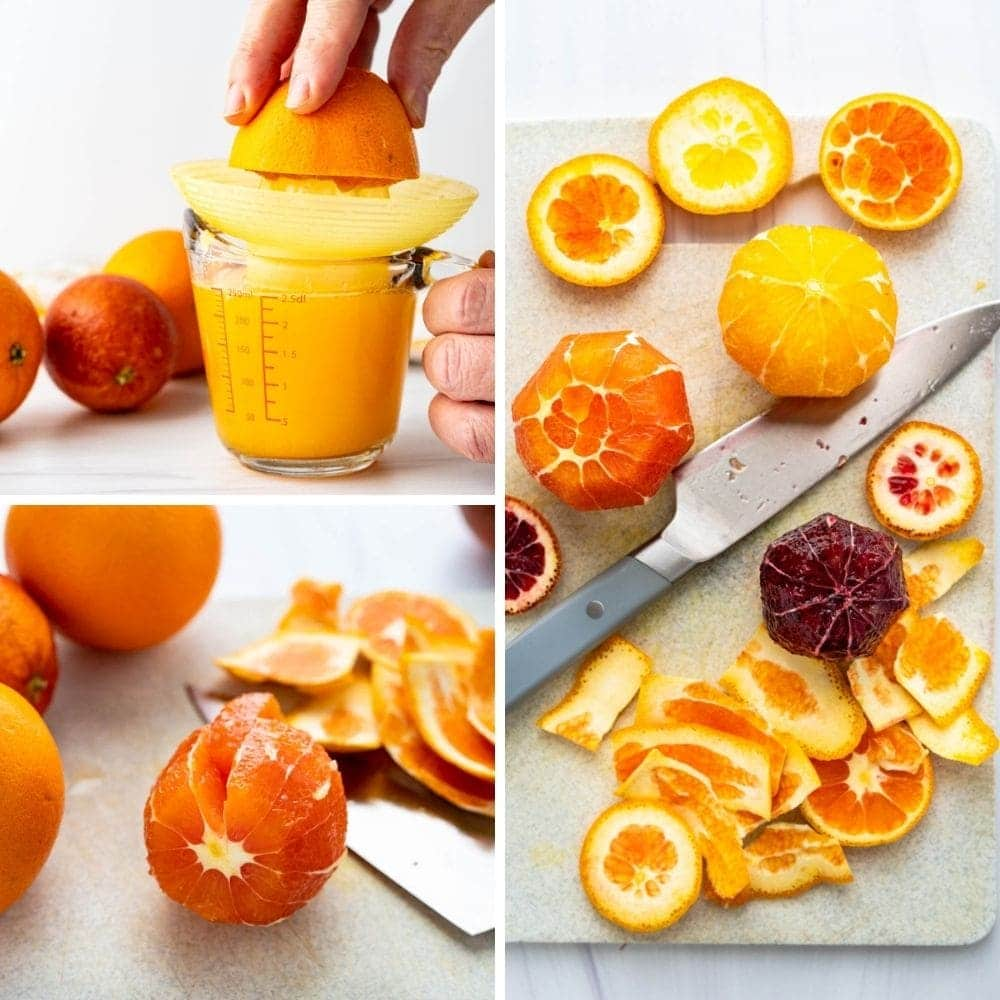 showing how to supreme citrus.