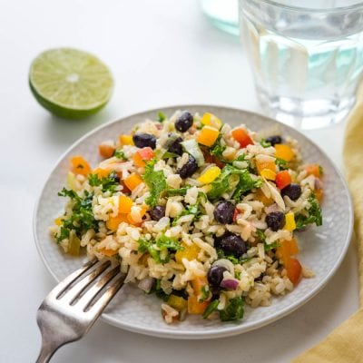 Black Bean and Rice Salad with Cumin Lime Dressing