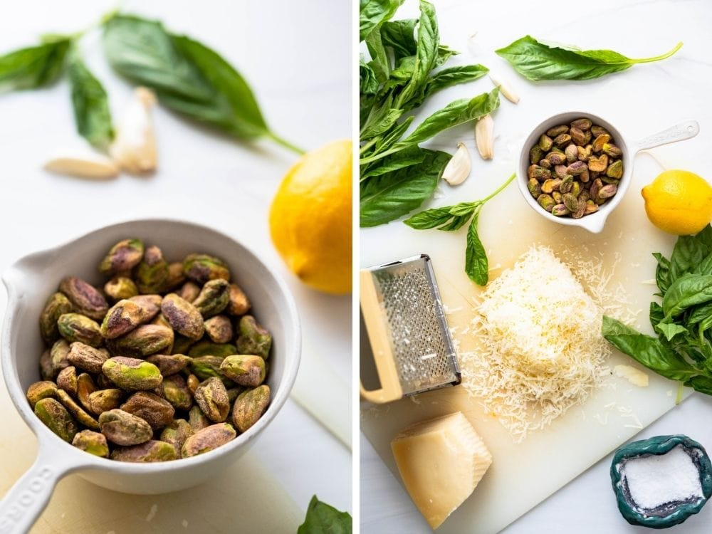 shelled pistachios with the other ingredients.