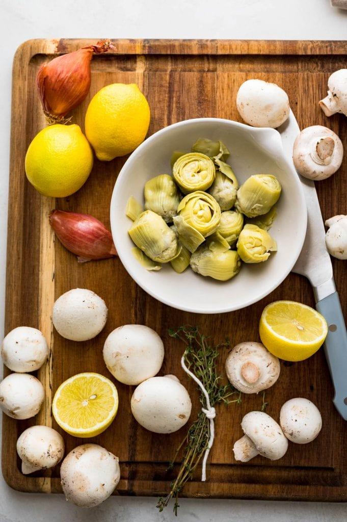 ingredients for skillet chicken.