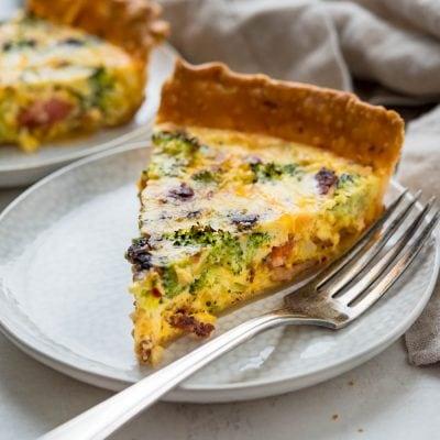 Savory, Cheesy Bacon Broccoli Quiche