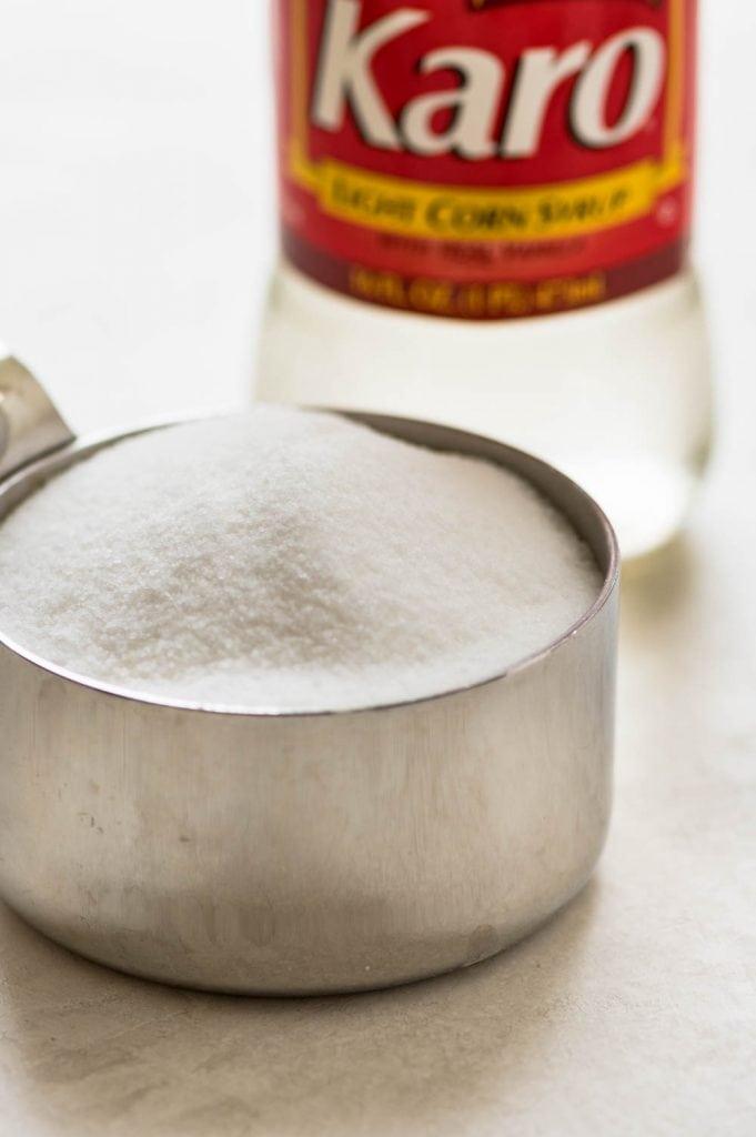 sugar and Karo syrup.