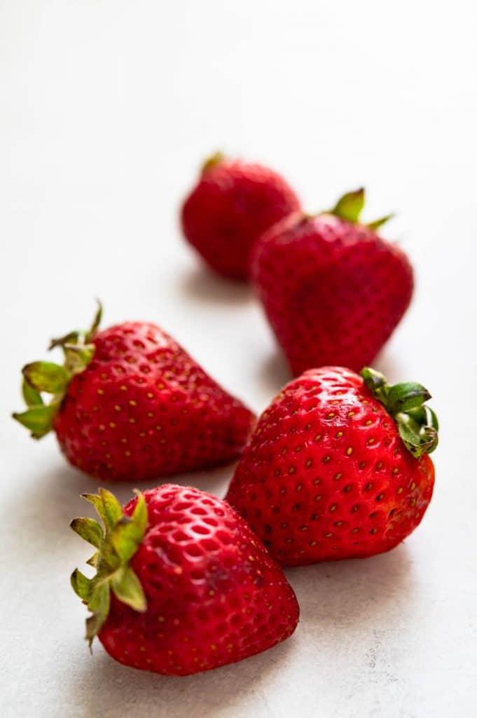 summer strawberries.