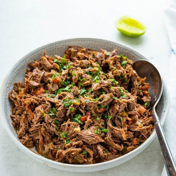 seasoned shredded beef