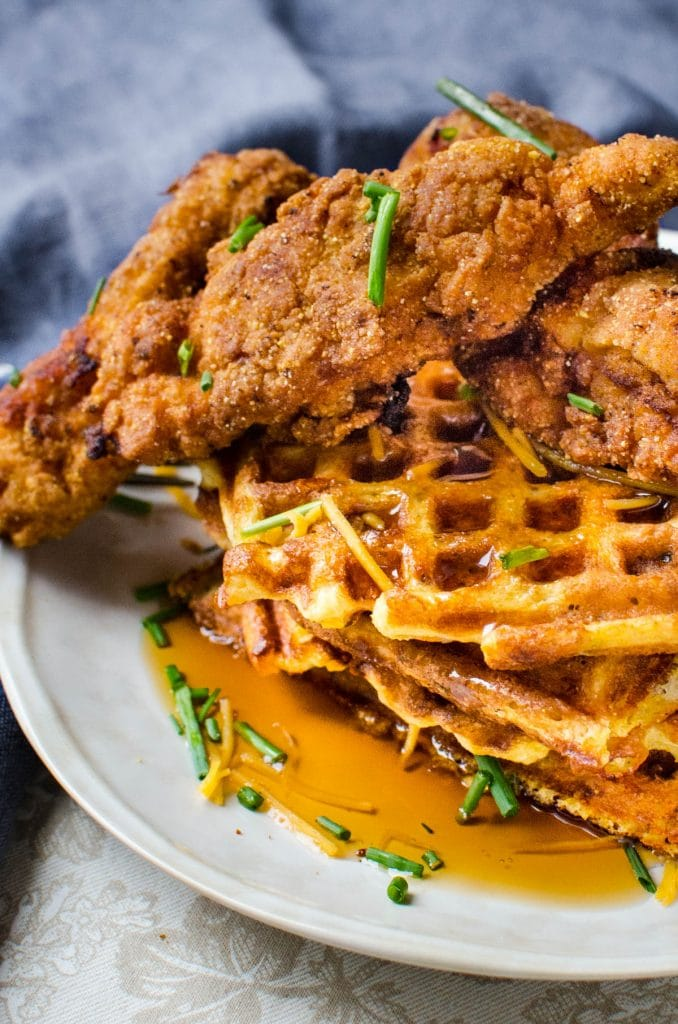 Serving the ultimate brunch or dinner with loads of maple syrup.