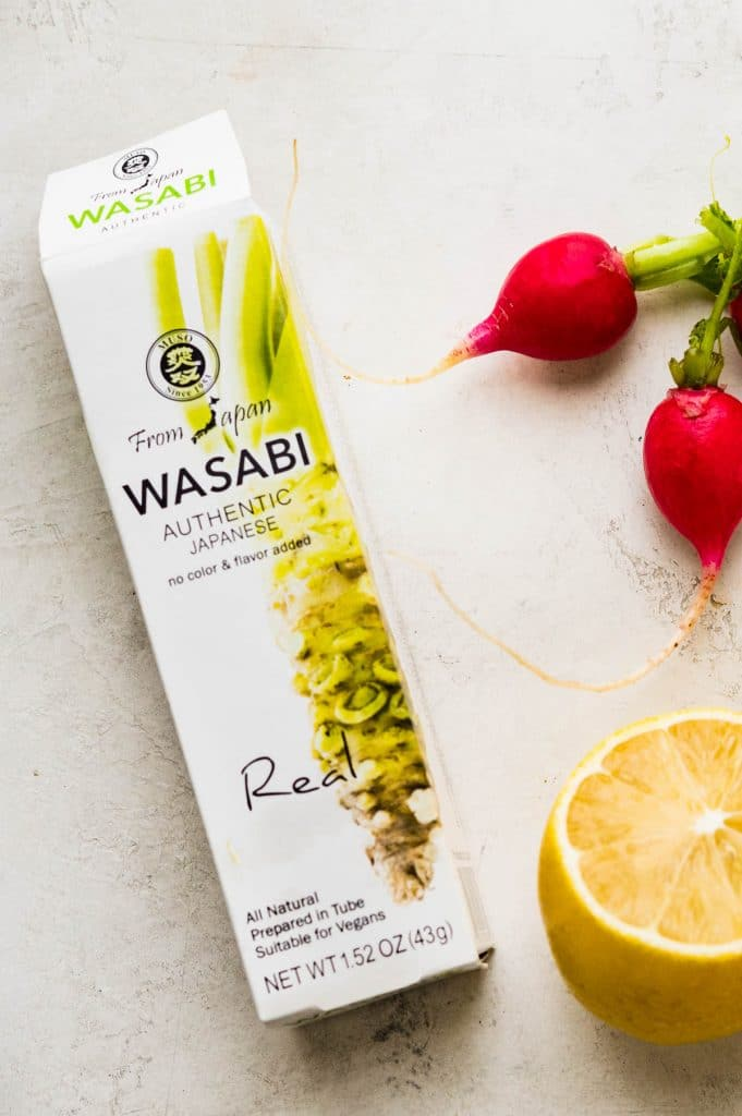 real wasabi paste to season the Halloween appetizers.